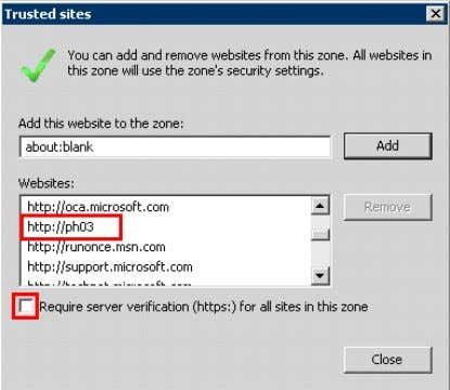 "Informationserver>"" to the trusted sites. Figure 3-12 6. ""Enable Protected Mode"" mustn't be checked. 28"