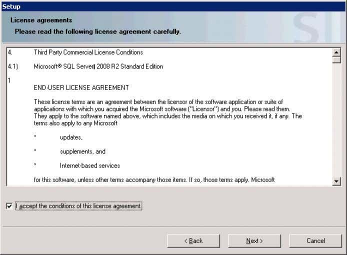 "MS SQL Server 2008 R2 and click on ""Next"". Figure 3-19 12. Accept the changes to"