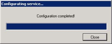 """Close"" to finish the Service configuration. Figure 3-39 5. The SIMATIC Information Server Setup will be"