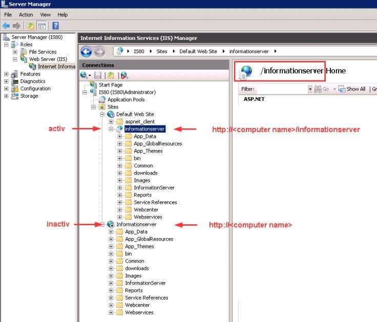 is active you have to use different URLs. Figure 3-41 Installing and Commissioning of PH/IS V