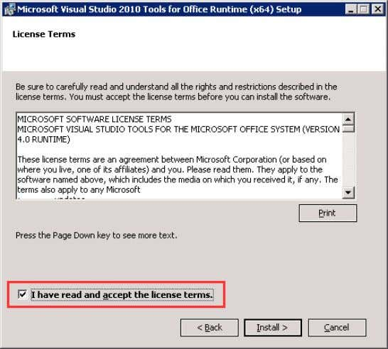 "accept the license terms"". Click on Install. Figure 3-43 5. Click on ""Finish"" in the dialog"