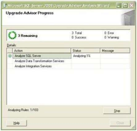 to capture the analysis using the Upgrade Advisor Tool. Once you click on Run you will