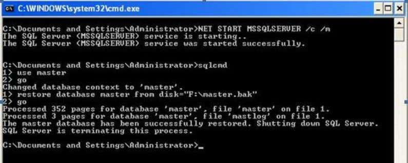 SQL server will shut down and hence we need to start it normally and access the