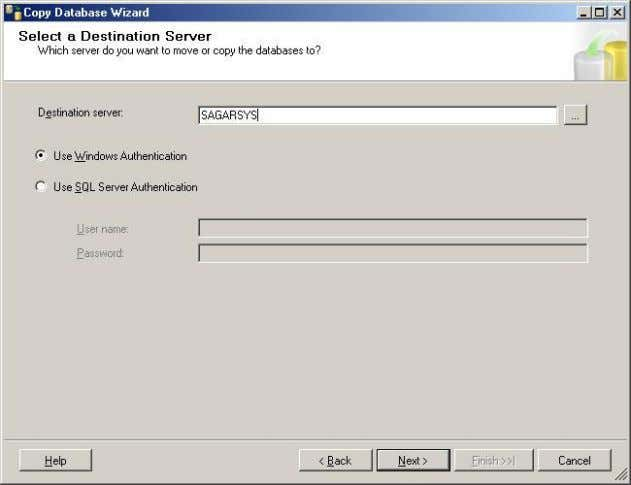  Once source & destination server details given, you need to select the way by