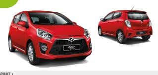 EXTERIOR STANDARD E & G Dynamic and fluid, the Perodua Axia's bold looks match its innovative
