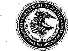 Immigrant & Refugee Appellate Center, LLC | www.irac.net U.S. Department of Justice Executive Office for Immigration