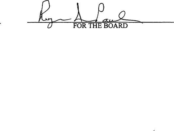 FORTHE BOARD