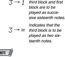 3 1 third block and first block are to be played as succe- sive sixteenth