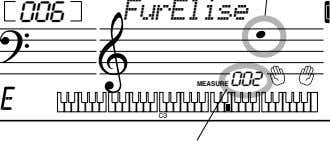 -02 • Current melody note 006 FurElise MEASURE 002 Current measure number 2 Select the desired