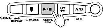 notes. 4 Press the [START/STOP] button to stop the Lesson. The PSR-175/172 exits from the Lesson