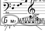 many of the chords are also recognized.) Dict. TEMPO 116 Indicates notes to be played. Flashes