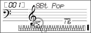 accompaniment. You can do this in one of the following ways: 001 8Bt Pop TEMPO 116