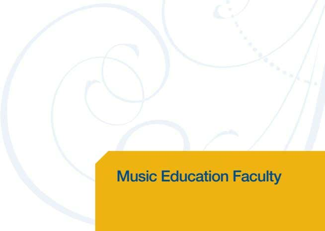 Music Education Faculty