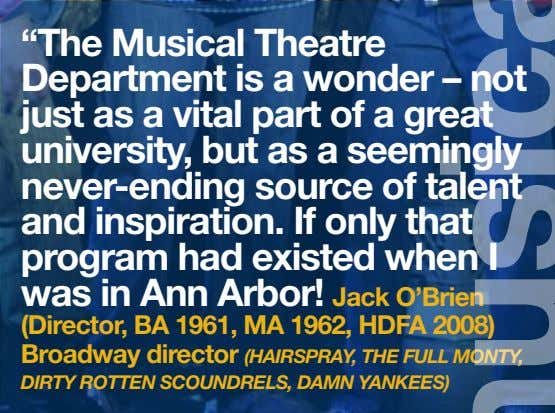 """The Musical Theatre Department is a wonder – not just as a vital part of"