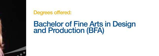 Degrees offered: Bachelor of Fine Arts in Design and Production (BFA)