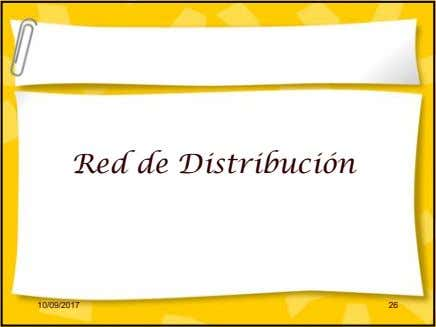 Red de Distribución 10/09/2017 26