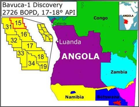 to announce the launching of the exploration project. Angola In the case of Angola, sub- Saharan