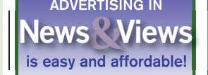 ad for only $ 44! When you advertise in four issues of News & Views. CALL