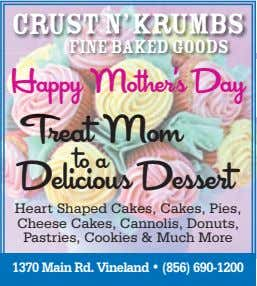 CRUST N'KRUMBS Fine Baked Goods Happy Mother's Day Treat Mom Delicious Dessert to a Heart