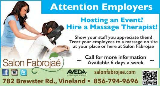 Attention Employers Hosting an Event? Hire a Massage Therapist! Show your staff you appreciate them!