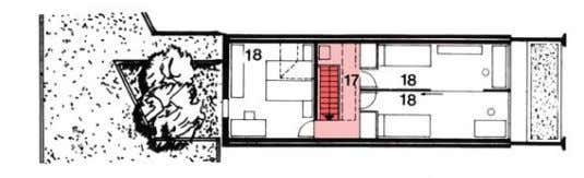 Near Bern, Switzerland top level entry level basement Type 380 exterior circulation horizontal circulation