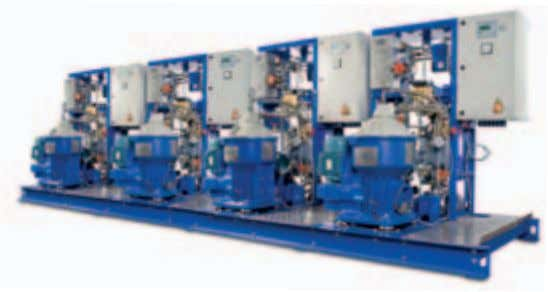 QuAdruPle Flex Module with separators, heaters and pumps  Efficient  d ischarge     Separated sludge