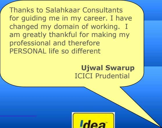 Thanks to Salahkaar Consultants for guiding me in my career. I have changed my domain