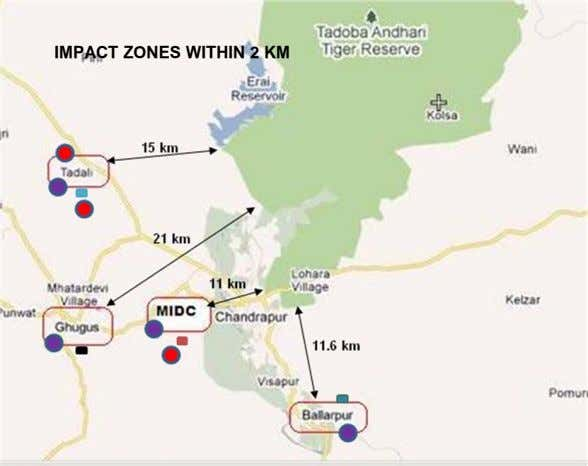 IMPACT ZONES WITHIN 2 KM