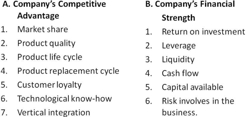 advantage, financial strength, industry strength and environmental stability are shown as follows: SJBIT/MBA Page 12