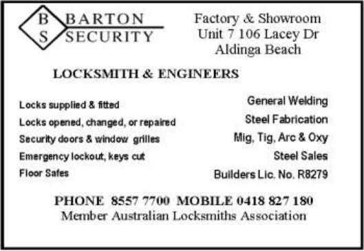 SYSTEMS ABN 20051 316 584 29 SECKER ROAD, MT BARKER SA 5251 PHONE: 8398 2484 Coastal