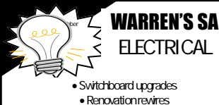 WARREN'S SA Attention Grabber ELECTRICAL  Switchboard upgrades  Renovation rewires