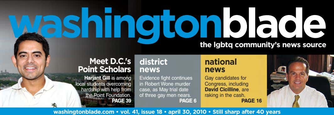 the lgbtq community's news source Meet D.C.'s Point Scholars district national news news Harjant Gill