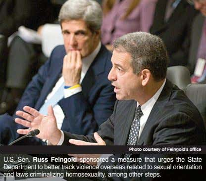 Photo courtesy of Feingold's office U.S. Sen. Russ Feingold sponsored a measure that urges the