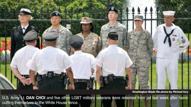 Washington Blade file photo by Michael Key U.S. Army Lt. DAN CHOI and five other