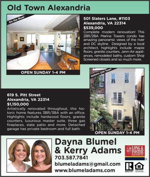 Old Town Alexandria 501 Slaters Lane, #1103 Alexandria, VA 22314 $539,000 Complete modern renovation! This