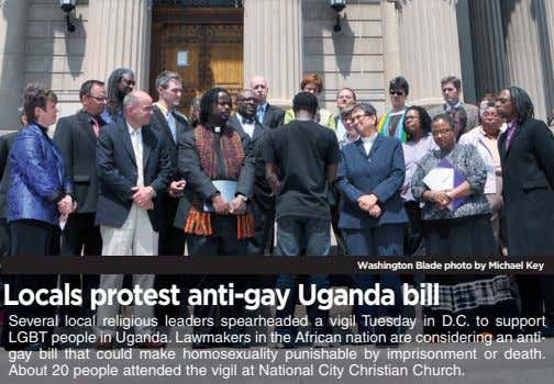 Washington Blade photo by Michael Key Locals protest anti-gay Uganda bill Several local religious leaders