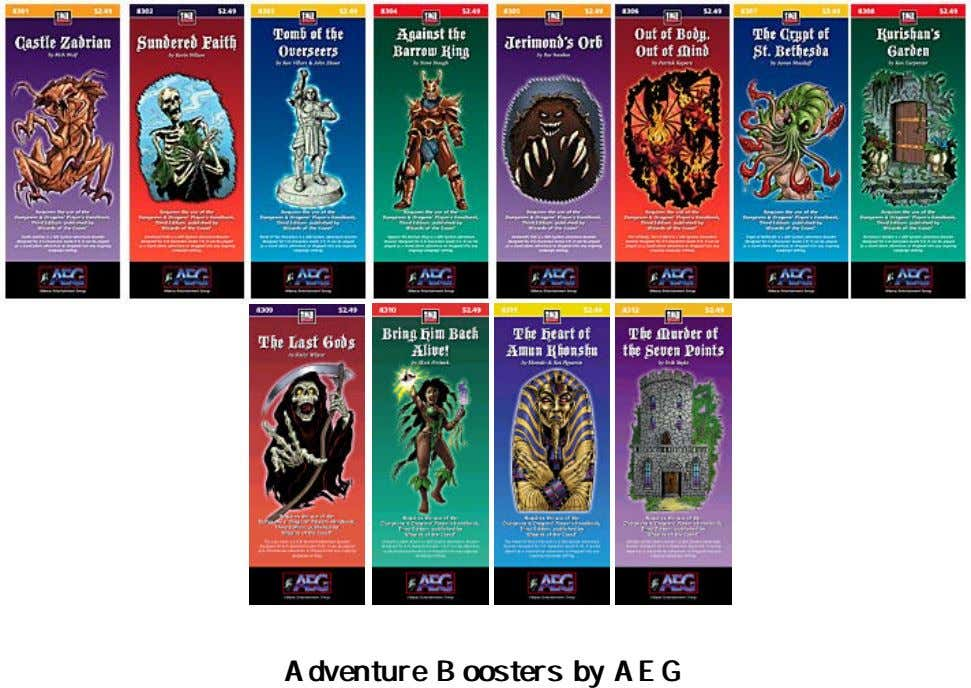 Adventure Adventure Boosters Boosters byby AEG AEG
