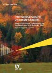 EY IFRS Core Tools International GAAP® Based on International Financial Reporting Standards in issue at