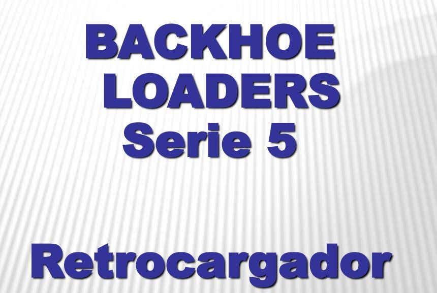 BACKHOE LOADERS Serie 5 Retrocargador