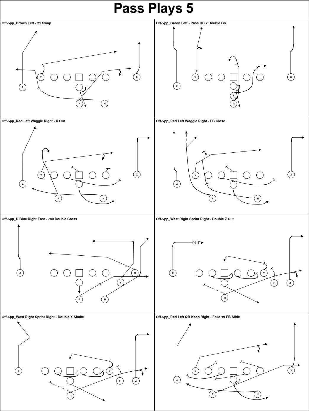 Pass Plays 5 Off->pp_Brown Left - 21 Swap Off->pp_Green Left - Pass HB 2 Double
