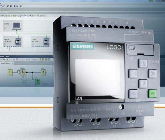 simpler to migrate to LOGO! 8. siemens.com/logo New features • Eight devices with an onboard Industrial