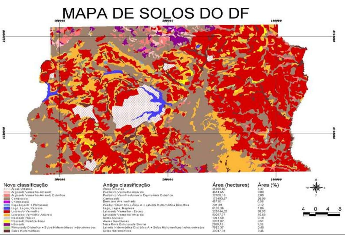 Figura 2.4 - Mapa de solos do Distri to Federal. (Reatto et al, 2004) 18