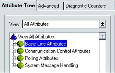 the text Basic Line Attributes. See Figure 4.10. Figure 4.10: Line 5 (LON) attribute groups 3.