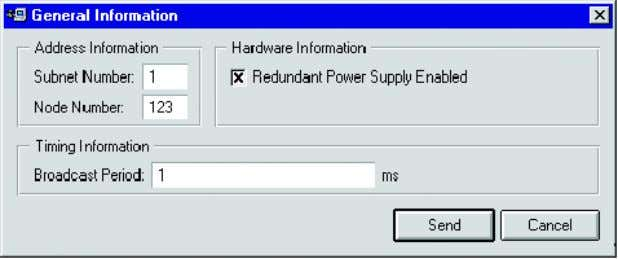 displayed with the received status code and status message. Figure 4.31: Edit dialog for general information