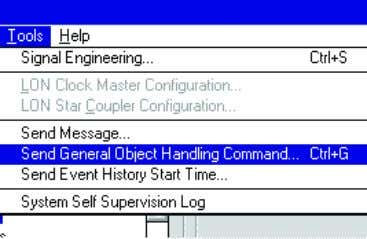 Send General Object Handling Command . See Figure 4.39. Figure 4.39: Send General Object Handling Command
