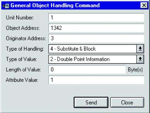 Connecting LONWORKS Devices Configuration Manual 1MRS758092 Figure 4.40: General Object Handling Dialog with example