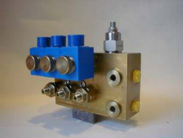 Four-stage Pressure Relief Valve Electrical operation The Bolzoni Auramo four-stage pressure relief valve reduces load