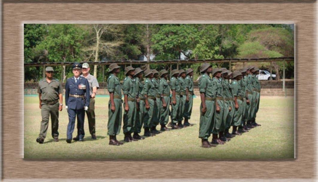 Willard of South African National Defence Force inspect the pass-out drill. kruger park times - 3