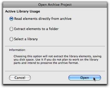 "Select the ""Read elements directly from archive"" option. Please review the ""Getting started with the ArchiCAD"