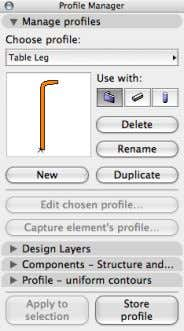 "Profile Manager… and choose the ""Table Leg"" profile. 21 Click ""OK"" on the Wall Default Setting"